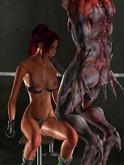 Shy 3D Demon oral action