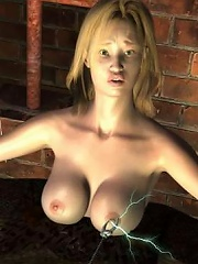 Virgin 3D Lady is filled like a dirty whore